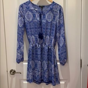 Forever 21 blue and white mini dress size small